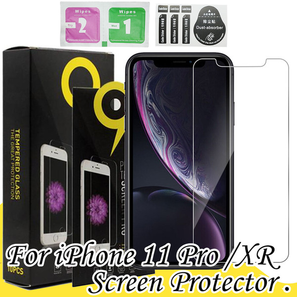 top popular 0.3MM High Quality Tempered Glass For iPhone 11 Pro XS MAX XR 7 8 Plus Samsung A20 Huawei Mate30 LG Screen Protector 2020
