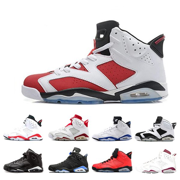 Best discount 6 6s Alternate Angry bull Black Cat Carmine Basketball Shoes Mens Oreo high White Infared Sport Blue UNC Sneakers size 7-13