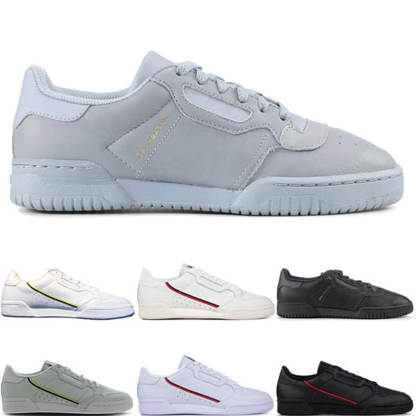 Adidas CONTINENTAL 80 Calabasas Chegada nova Calabasas Powerphase Designer Continental 80 sapatos Casuais Kanye West Aero azul Core preto OG branco homens mulheres des chaussures