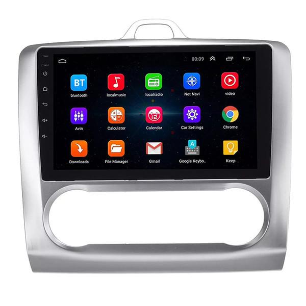9 pulgadas Puro Android 8.1 Coche DVD Quad Core 16G ROM 1024 * 600 Pantalla Coche Raio Ford Focus 2004-2011 WIFI MIRROR LINK bluetooth auto A / C
