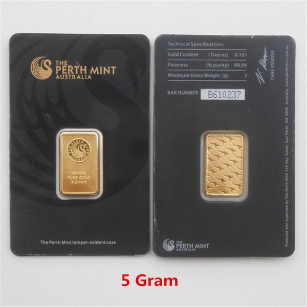 5 Gram Black Gold Bar
