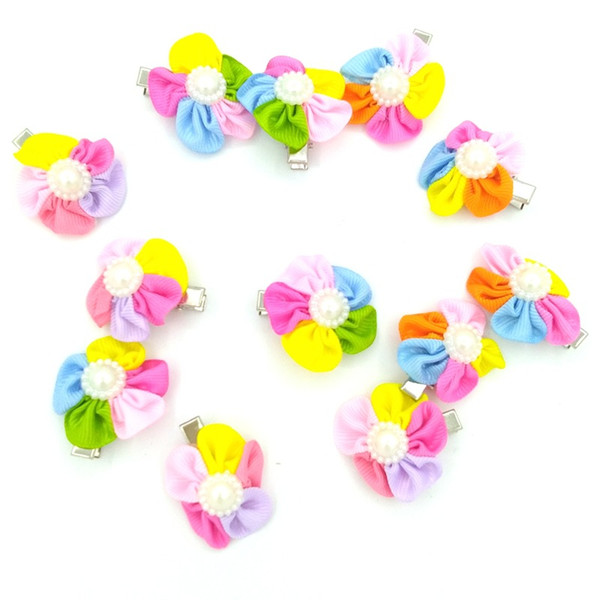 Dog Hair Bows Clip Pet Cat Puppy Grooming Striped Bowls For Hair Accessories Designer Grooming Accessories