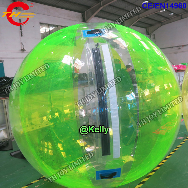 free door shipping 1.0mm pvc 2m inflatable Water walking ball, clear Water Ball for swimming pool play, inflatable human hamster ball