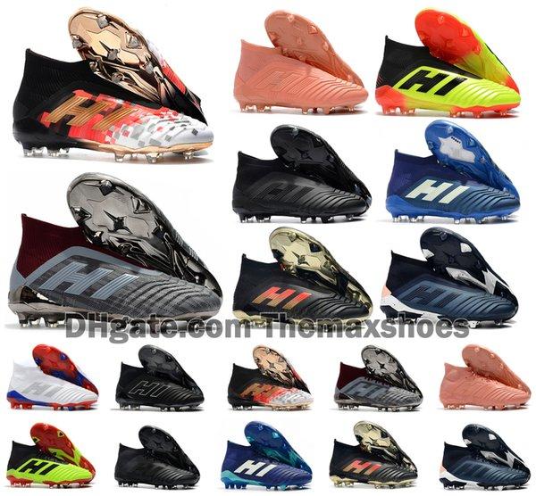 Predator Hot 18+ 18.1 FG Telstar PP Paul Pogba calcio 18 + x bitte Slip-On scarpe da calcio mens alti scarpe da calcio a buon mercato il formato 39-45