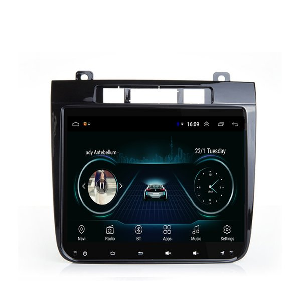 Android car radio with precise GPS navigation vidio HD1080 multi-touch screen bluetooth microphone for VW touareg 10.1inch