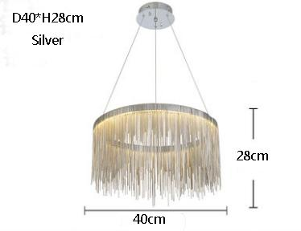 Diámetro 40cm Plata