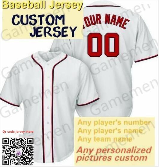 Gamemen memorizzare TS77 baseball maglie uomini Kid adulti Lady gioventù Donne personalizzato cucito Qualsiasi Tuo Nome Numero S-4XL