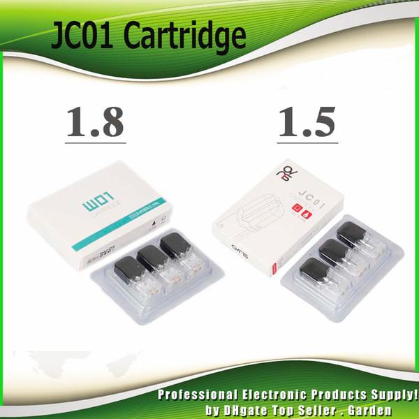 top popular Original OVNS JC01 Cartridge 1.5ohm 1.8ohm Ceramic Coil Vape Pods Atomizer For Thick Oil and E Liquid Tank 100% Authentic 2021