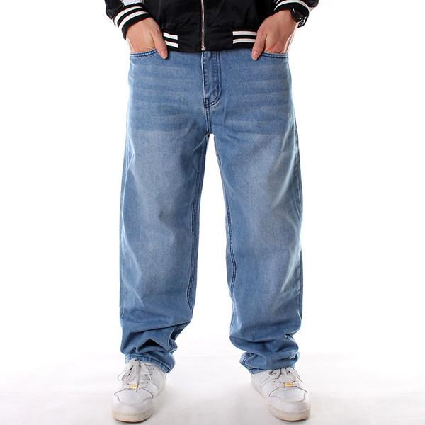 first rate wholesale online new products Acheter 2019 Nouveau Lâche Big Men Grande Taille Hip Hop Skateboard Baggy  Pantalons Denim Jeans Rap Street Fashion Pantalon Bleu Denim Homme ...