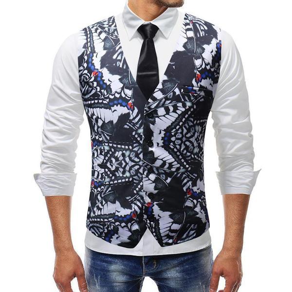 Suit Vest Mens Casual Waistcoat Grey Veste Vintage Designer Clothes Male Chaleco Sleeveless Suit Jacket Slim Jacket Tops 5xl