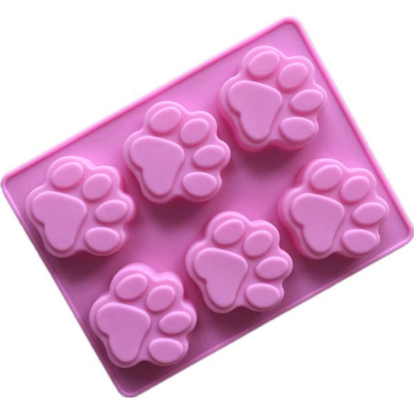 Kedi Paw Print Bakeware Silikon Kalıp Ayı Çikolata Paw Kalıp Çerez Şeker Sabun Reçine Balmumu Kalıp DIY Kek Dekorasyon Araçları lin4887