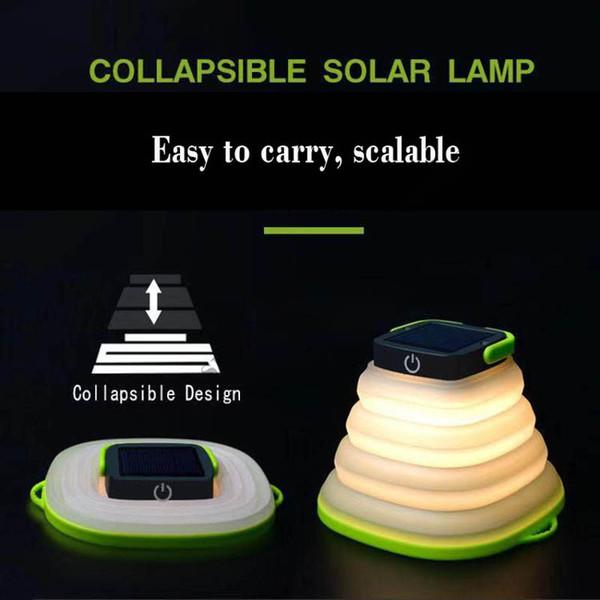 0328299d795 Lámparas solares Luces de compresión solar Luces de camping Plegables Boda  Festival Decoraciones Linternas Seguridad Impermeable