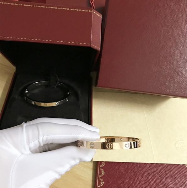 Пара Любовь браслеты из нержавеющей стали 316L винт браслеты с отверткой винт никогда не теряйте любовь браслет с верхней оригинальной коробке подарочная коробка