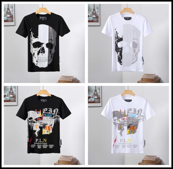 2019 new designer cotton O-neck short-sleeved T-shirt ghost head brand white black designer flower polo shirt male M-3XL