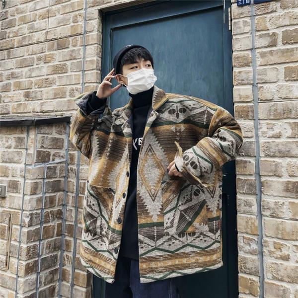Masculino De Patchwork Japonés Invierno Contraste Nuevo Compre 2018 zXZFqPP