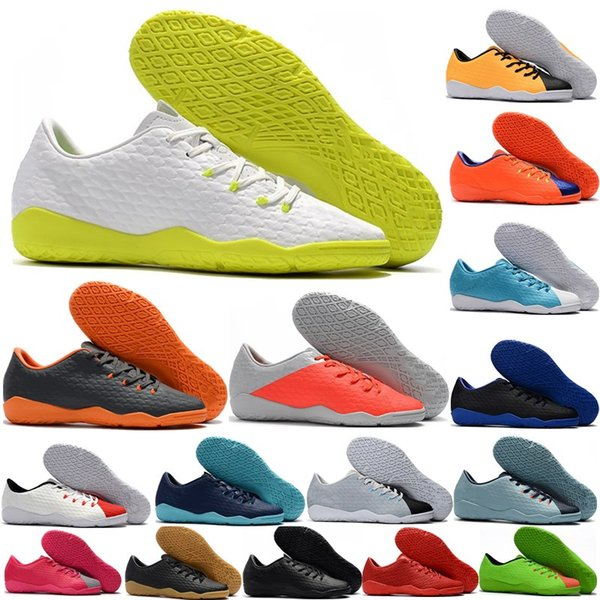 New arrival Mens Hypervenom Phantom IC Soccer Shoes Cellular network turf indoor Football Shoes Training sports shoes
