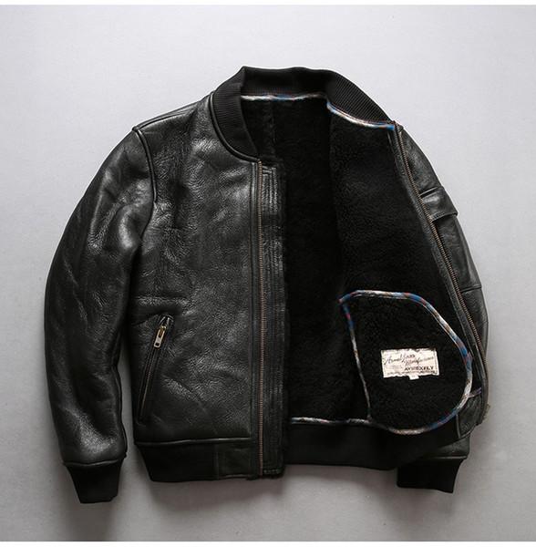 giacca pelle con pecora uomo