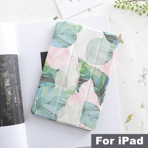 Custodia Flip Cover letterario con magnete a foglia per Ipad Pro 9.7 11 Air 10.5 12.9 Mini 2 3 4 5 2019 Custodia cover tablet per Ipad 9.7 2017 2018 T190710