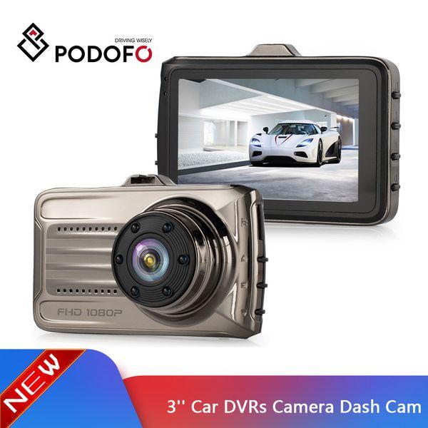 Podofo Car DVRs Camera Dash Cam Full HD 1080P Recorder Video Registrar Night Camera Carcam Loop Recording Dash