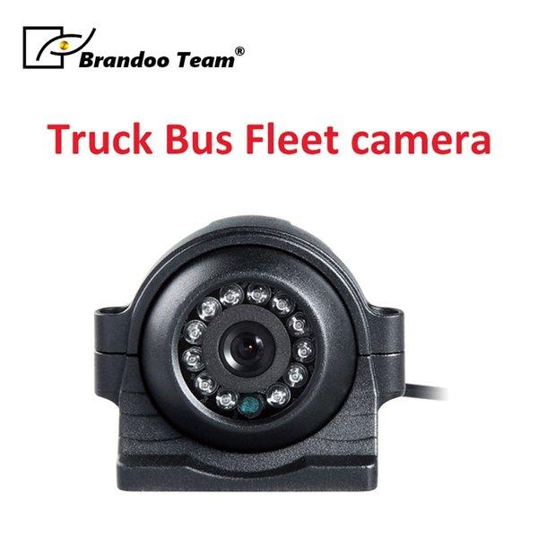 110 derece görüş açısı Metal Su Geçirmez Arka Yan / Ağır Görüş Kamyon Van için Ön Görüş Kamerası, ücretsiz kargo araba