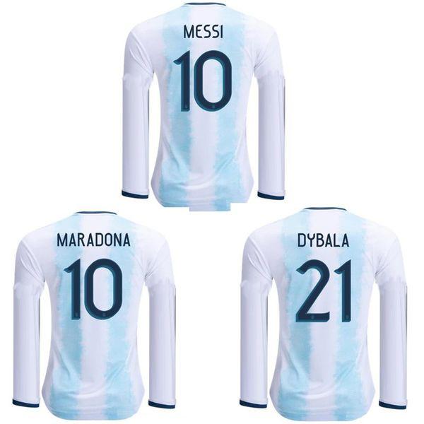 Thai 2019 2020 Argentina long sleeve soccer jerseys 19 20 AGUERO DI MARIA football shirt MESSI DYBALA jersey HIGUAIN maillot de foot