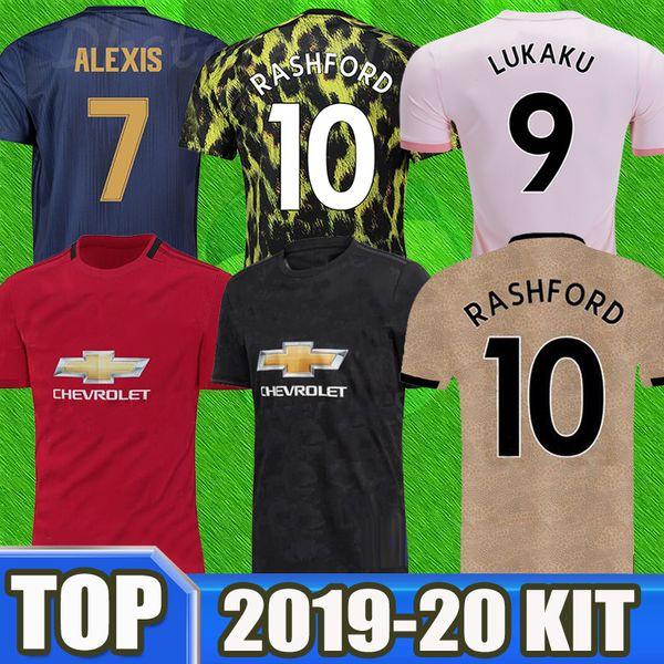 2019 2020 Manchester RASHFORD rouge homme Lukaku United POGBA UTD 19 20 maillots de football 2018 19 maillots de football pour enfant maillots MARTIAL LINGARD