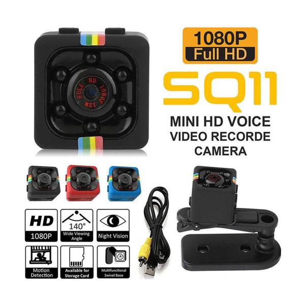 Mini SQ8 SQ11 SQ12 SQ23 HD 1080P Mini videocamera Mini telecamera CMOS di visione notturna a infrarossi Monitor piccola videocamera nascosta Videoregistratore DV