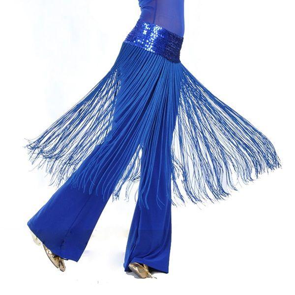Femmes 5 couleurs Brillant Ventre Oriental Danse Latine Frange Gland Hanche Écharpe Ceinture Jupe Vestidos