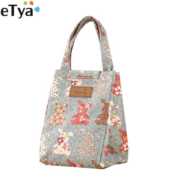 eTya Cartoon Cute Lunch Bags For Women Kids Thermal Insulation Large Women Handbag Food Picnic Cooler Box Bag Storage Tote Bag D19010902