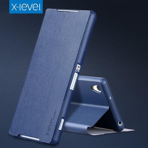 Flip Smart Cover PU Leather Case For Sony Xperia Z2 Case Phone Cover Case For Sony Xperia Z2 Business Plain Phone Cases Elegant