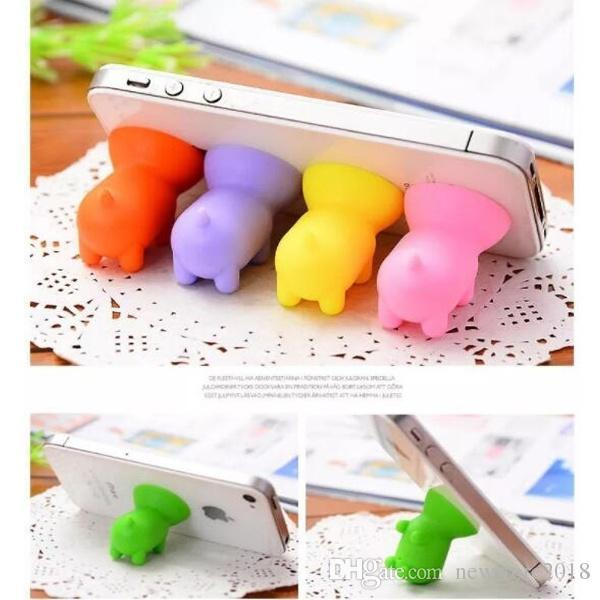 n factory price factory price pairs of cute pig mobile phone support portable bracket cell phones mounts multi color holder e402