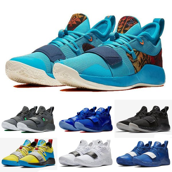 best website dcbe2 ab2fe 2019 New PG 2.5 Playstation Wolf Grey Shoes For Sales Top Quality New Paul  George Basketball Shoes Basketball Shoes For Women Cool Basketball Shoes ...