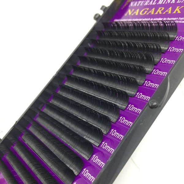 NAGARAKU 16Rows Faux mink individual eyelash lashes maquiagem cilios for professionals soft mink eyelash extension 60 sets DHL
