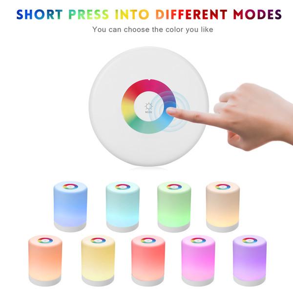 Wiederaufladbare Smart LED Touch Control Nachtlicht Induktionsdimmer Intelligente Nachttischlampe Dimmable RGB-Farbwechsel mit Haken