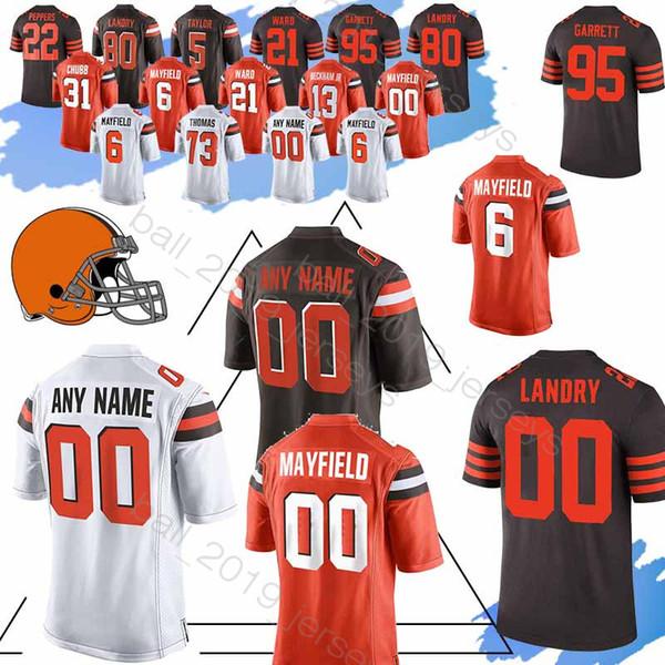san francisco 4e1c7 59f2c 2019 13 Odell Beckham Jr Jersey Browns Custom Jerseys 95 Myles Garrett 24  Nick Chubb 53 Joe Schobert 11 Antonio Callaway Jersey From ...