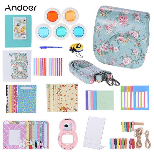 ccessories case Andoer 14 in 1 Kit Camera Bag for Fujifilm Instax Mini 8/8+/8s Video Bag Case Protector Filter+Album+Sticker+Other Access...