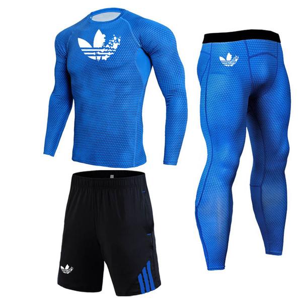 2019 Neue Herren Thermo Unterwäsche Set Sportswear Herren LOGO Kompressionsset Bekleidung Rashguard Sport MMA Thermo Tees