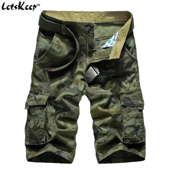 Letskeep New Summer Camouflage Shorts Men Casual Cotton Cargo Short Pants Baggy Military Camo Shorts No Belt 29-44, Ma332 SH19062701