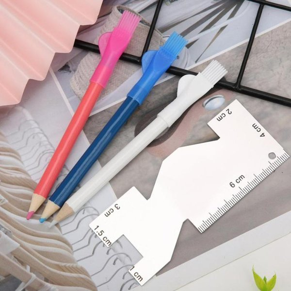 Sewing Tools Portable Sewing Metal Ruler Manual Caliper Tailor Pen with Brush Machine Accessories