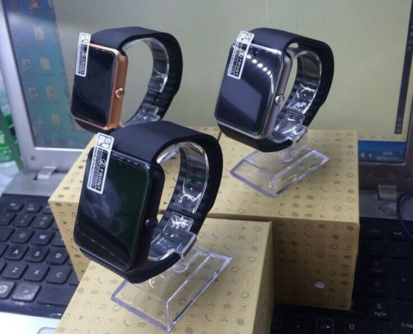 Neue GT08 Bluetooth Smart Watch mit SIM-Kartensteckplatz und TF Health Watchs für Android Samsung und IOS iphone Smartphone Armband Smartwatch
