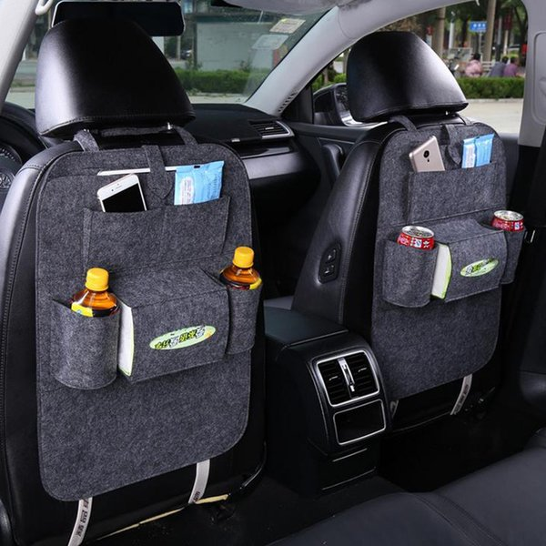 Hoomall Car Back Seat Storage Organizer Trash Net Holder Multi Pockets Travel Bags Hanger for Auto Capacity Storage Pouch 1PC Hoomall Car