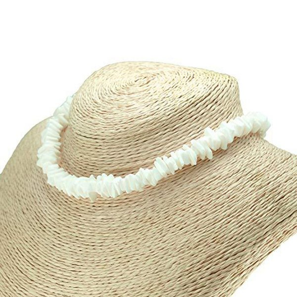 Hawaii Puka White Clam Chips Shell Collar Natural Irregular Chips Seashell Gargantilla Collar Moda Verano Joyas de Playa