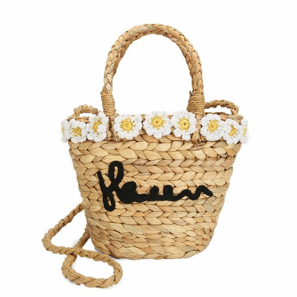natural eco designer summer season straw ladies tote shoulder hand bag crossbody women grass woven braided beach bucket handbags