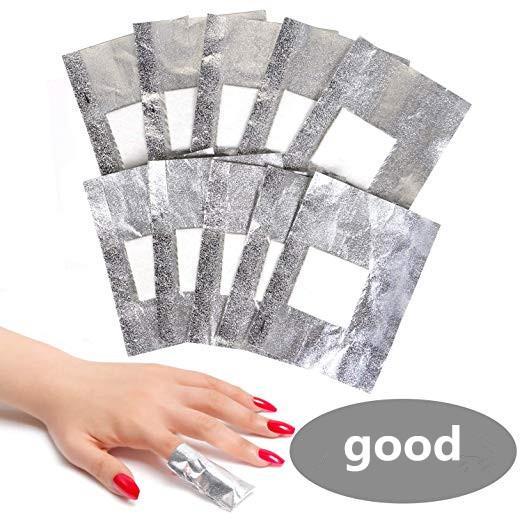Removedor de esmalte de uñas en gel - BTArtbox Soak Off Removedor de esmalte en gel Foil Wraps con cutícula Pusher Acero inoxidable Triángulo cutícula