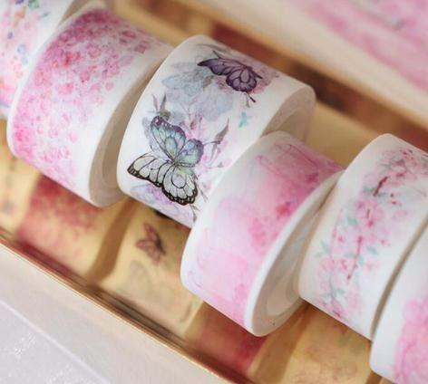 Romantic Cherry cute Show Paper Washi Tape Adhesive Tape DIY Scrapbooking Sticker Label Masking Craft Tapes