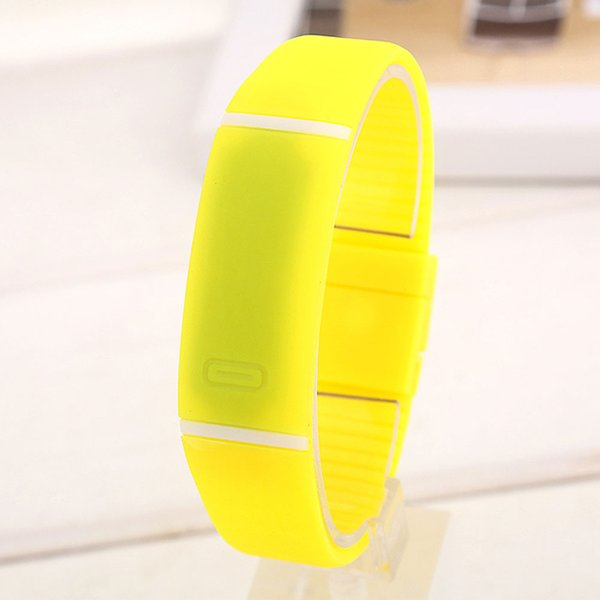 Womens Mens Kids Fitness LED pulsera de silicona deporte digital reloj de pulsera HOT