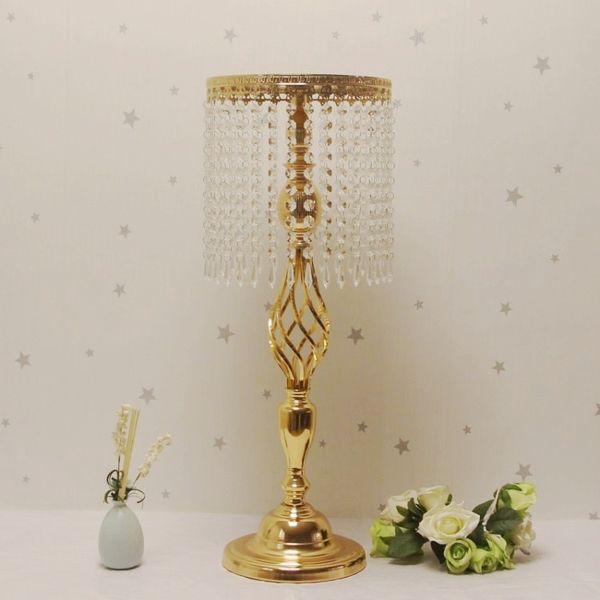 70 cm Strass Kandelaber Hochzeit Elegante Kerzenhalter Hübsche Tischdekoration Vase Stehen Kristall Kerzenständer Hochzeitsdekoration