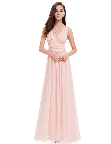 Ever-Pretty Sleeveless V-Neck Semi-Formal Maxi Evening Dress Party Dresses 2019 Party Dresses For Girls