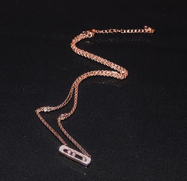Il meglio della nuova moda femminile glamour fashion full diamond doppio strato collana serie dea