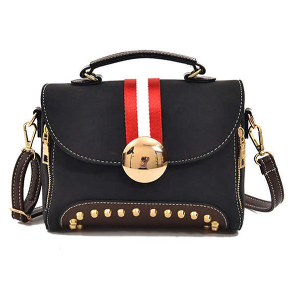 Handbags 2019 Fashion Women Rivets Buckle Square Shoulder Bags Female Causal Brand Designer Chain Messenger Crossbody Bags